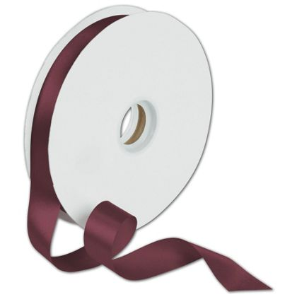 "Dyna Burgundy Satin Ribbon, 7/8"" x 100 Yds"
