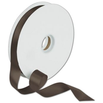 Dyna Chocolate Satin Ribbon, 7/8