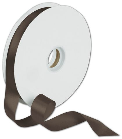 "Dyna Chocolate Satin Ribbon, 7/8"" x 100 Yds"