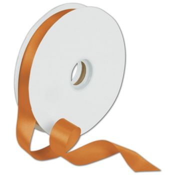 Dyna Tangerine Satin Ribbon, 7/8