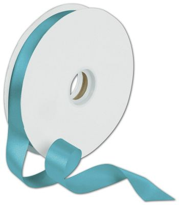 Dyna Turquoise Satin Ribbon, 7/8