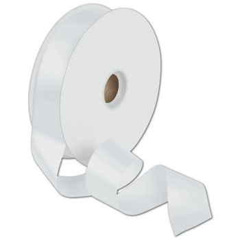 Dyna White Satin Ribbon, 1 3/8