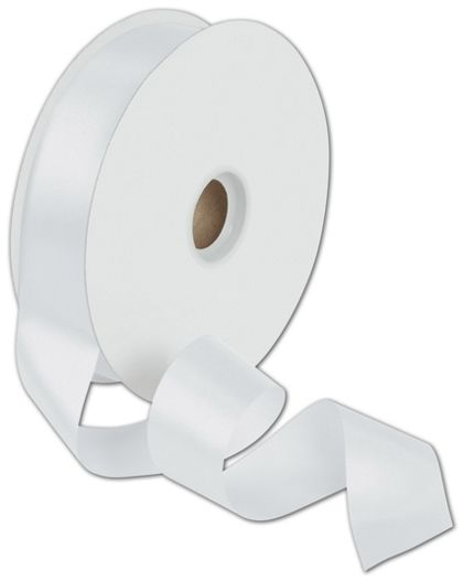 "Dyna White Satin Ribbon, 1 3/8"" x 100 Yds"