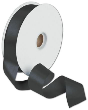 Dyna Black Satin Ribbon, 1 3/8