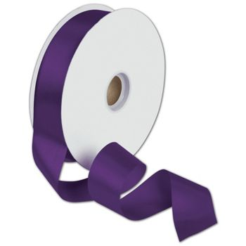 Dyna Purple Satin Ribbon, 1 3/8