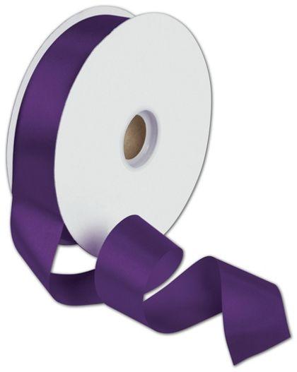 "Dyna Purple Satin Ribbon, 1 3/8"" x 100 Yds"