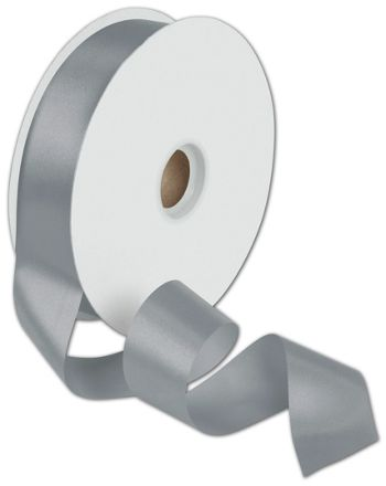 Dyna Silver Satin Ribbon, 1 3/8