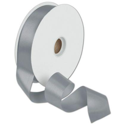 """Dyna Silver Satin Ribbon, 1 3/8"""" x 100 Yds"""
