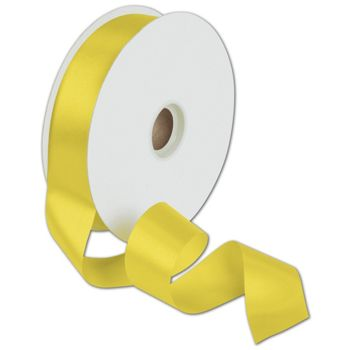 Dyna Yellow Satin Ribbon, 1 3/8