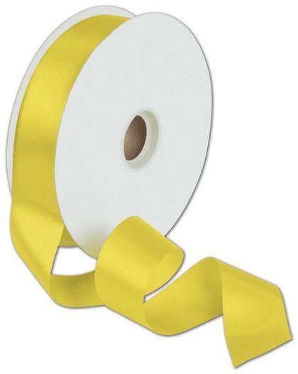"Dyna Yellow Satin Ribbon, 1 3/8"" x 100 Yds"