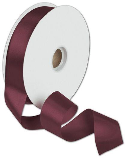 "Dyna Burgundy Satin Ribbon, 1 3/8"" x 100 Yds"