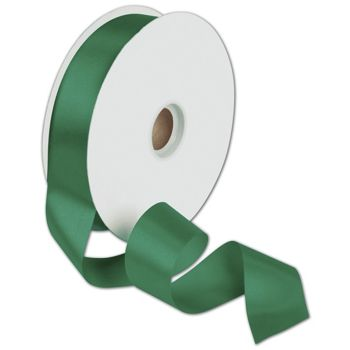 Dyna Holiday Green Satin Ribbon, 1 3/8