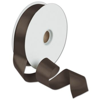 Dyna Chocolate Satin Ribbon, 1 3/8