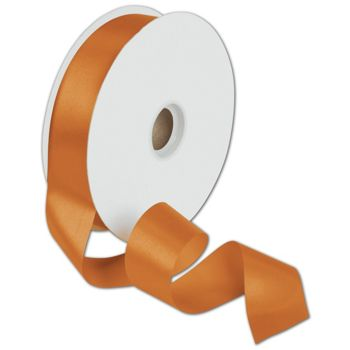 Dyna Tangerine Satin Ribbon, 1 3/8