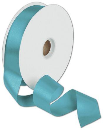 Dyna Turquoise Satin Ribbon, 1 3/8