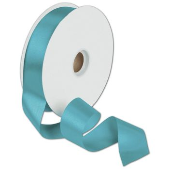 Dyna Turquoise Satin Ribbon, 1 3/8