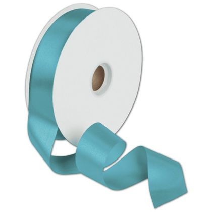 "Dyna Turquoise Satin Ribbon, 1 3/8"" x 100 Yds"