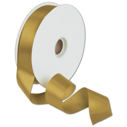 "Dyna Antique Gold Satin Ribbon, 13/8"" x 100 Yds"