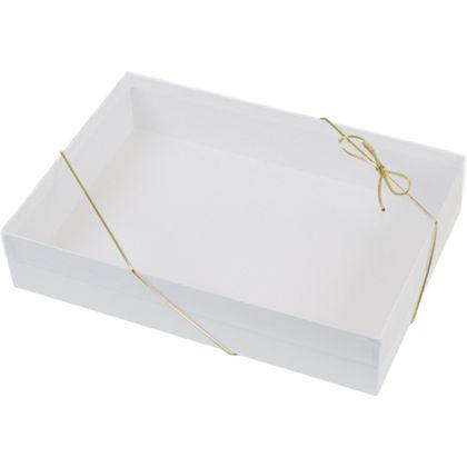 """Clear Top Boxes w/ White Base, 10 x 7 x 2"""""""