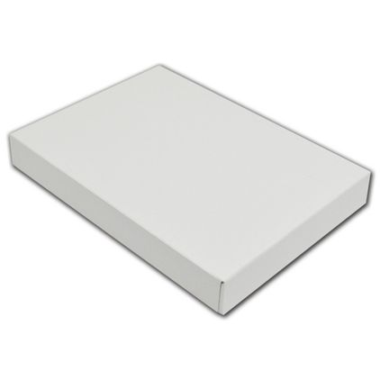 "White Gloss Two-Piece Apparel Boxes, 10 x 7 x 1 1/4"""