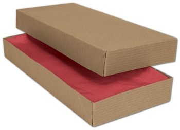 Kraft Two-Piece Apparel Boxes, 11 1/2 x 5 1/2 x 1 1/2