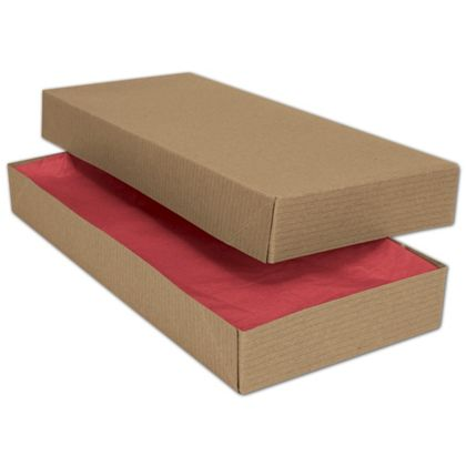 Kraft Two-Piece Apparel Boxes, 11 1/2 x 5 1/2 x 1 1/2""
