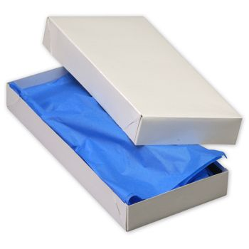 White Two-Piece Apparel Boxes, 11 1/2 x 5 1/2 x 1 1/2