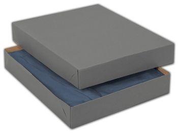 Grey Two-Piece Apparel Boxes, 11 1/2 x 8 1/2 x 1 5/8