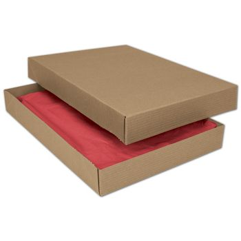 Kraft Two-Piece Apparel Boxes, 11 1/2 x 8 1/2 x 1 5/8