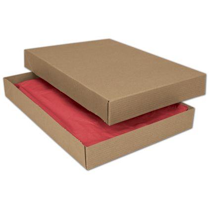 """Kraft Two-Piece Apparel Boxes, 11 1/2 x 8 1/2 x 1 5/8"""""""