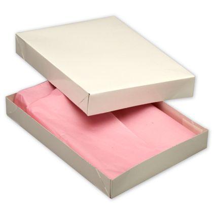 """White Two-Piece Apparel Boxes, 11 1/2 x 8 1/2 x 1 5/8"""""""
