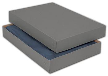 Grey Two-Piece Apparel Boxes, 15 x 9 1/2 x 2