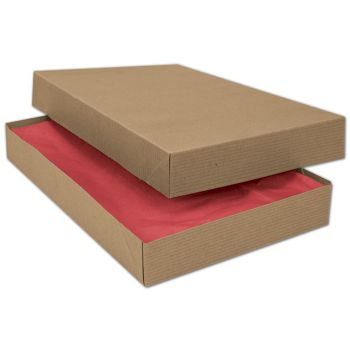 Kraft Two-Piece Apparel Boxes, 15 x 9 1/2 x 2