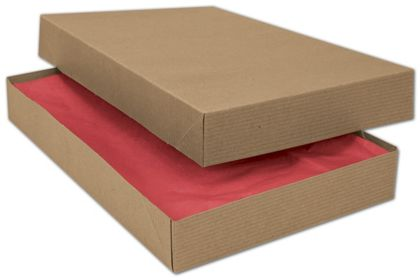 Kraft Two-Piece Apparel Boxes, 15 x 9 1/2 x 2""