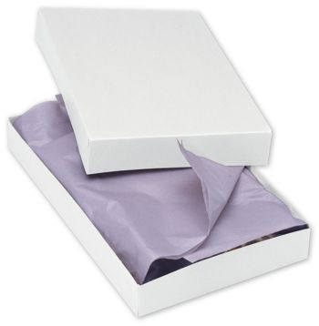 White Two-Piece Apparel Boxes, 15 x 9 1/2 x 2