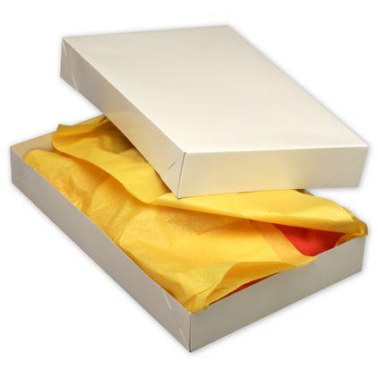 """White Two-Piece Apparel Boxes, 17 x 11 x 2 1/2"""""""