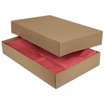 Kraft Two-Piece Apparel Boxes, 19 x 12 x 3