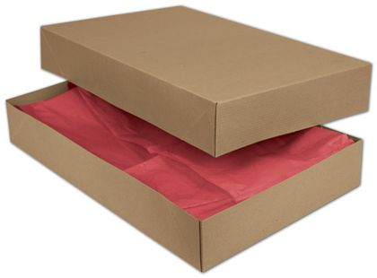 Kraft Two-Piece Apparel Boxes, 19 x 12 x 3""