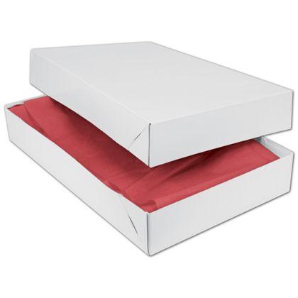"""White Two-Piece Apparel Boxes, 19 x 12 x 3"""""""