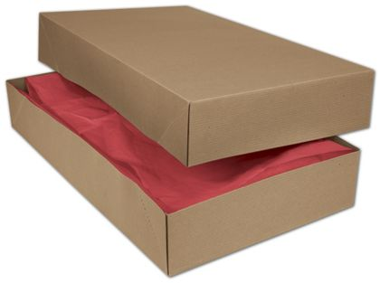 Kraft Two-Piece Apparel Boxes, 24 x 14 x 4""