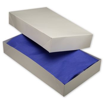 White Two-Piece Apparel Boxes, 24 x 14 x 4""