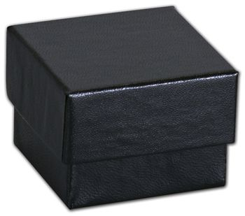 Black Matte Jewelry Boxes, 1 5/8 x 1 5/8 x 1 1/4