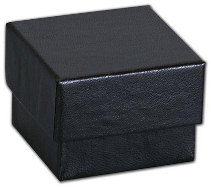 """Black Matte Jewelry Boxes, 1 5/8 x 1 5/8 x 1 1/4"""""""