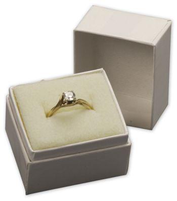 White Krome Jewelry Boxes, 1 1/2 x 1 1/4 x 1 1/2