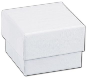 White Swirl Jewelry Boxes, 1 5/8 x 1 5/8 x 1 1/4