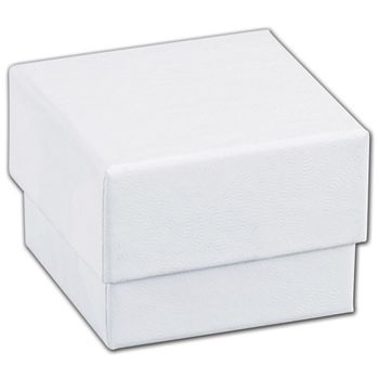 White Swirl Jewelry Boxes, 1 5/8 x 1 5/8 x 1 1/4""