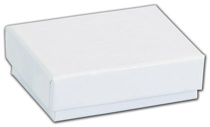 White Krome Jewelry Boxes, 2 x 1 1/2 x 5/8""