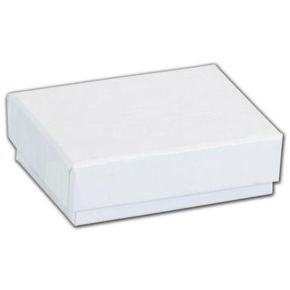 "White Krome Jewelry Boxes, 2 x 1 1/2 x 5/8"""