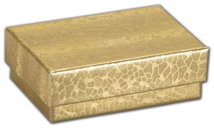 """Gold Foil Embossed Jewelry Boxes, 2 x 1 1/2 x 5/8"""""""