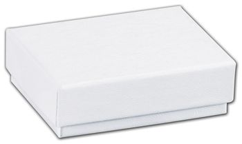 White Swirl Jewelry Boxes, 2 x 1 1/2 x 5/8